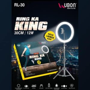 Ubon RL-30 RING KA KING Tripode with LED Light Laboratory Tripod Stand