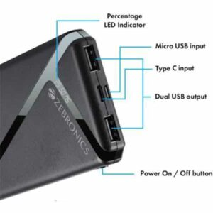 ZEBRONICS ZEB-MC10000F External Power Charger Power Bank