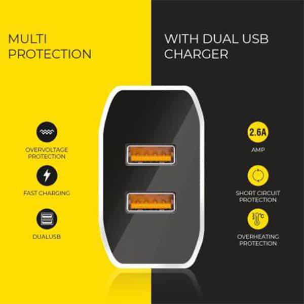 UBON USB Charger CH500 2.6A Dual USB Port Boost Charger