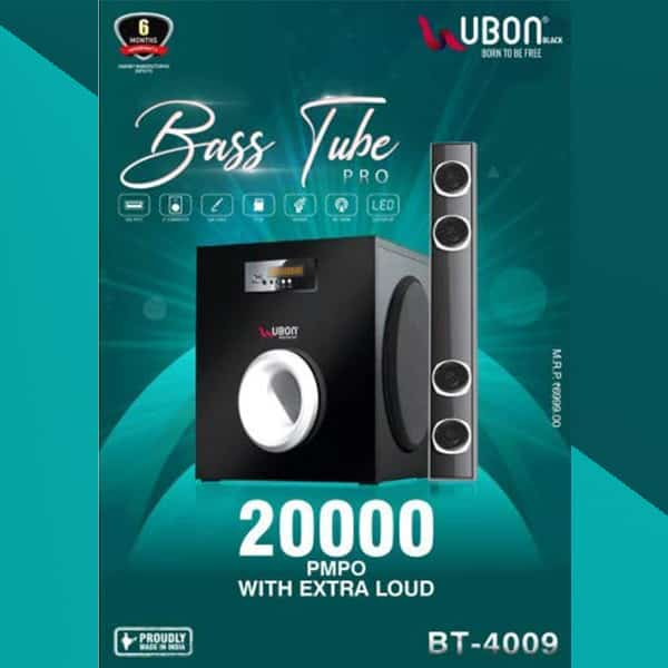 Ubon Bass Tube Pro BT-4009 Extra Loud Sound Effect with Extra bass
