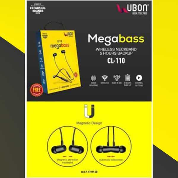 Ubon CL-110 Megabass Neckband Wireless With Mic