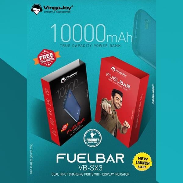 VingaJoy Fuelbar Powerdaddy 10000mAh Dual USB Power Bank