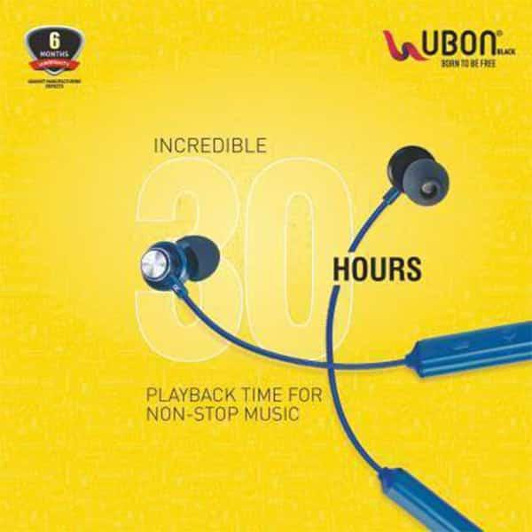 Ubon CL-5400 BeatBand Wireless Neckband Earphone with Mic Bluetooth Headset