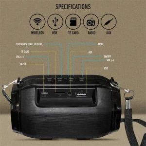 Ubon SP-43 Lightup Bluetooth Wireless Speaker