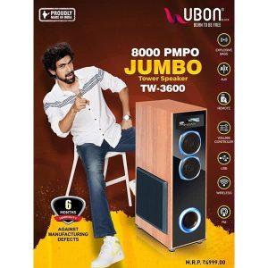 Ubon TW-3600 8000 PMPO JUMBO Tower Speaker