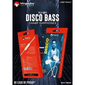 Vingajoy VJ-981 Disco Bass Champ Earphones