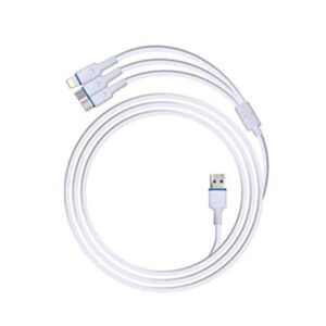 Zebronics Zeb-UMLCC1201 3 in 1 Cable (Micro USB, c Type and Lighting Cable)