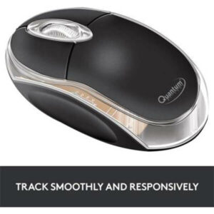 QUANTUM QHM222 Wired Optical Mouse (Black)