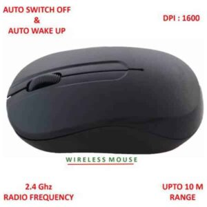 QUANTUM QHM271 Wireless Optical Mouse (2.4GHz Wireless, Black)