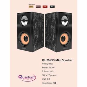 QUANTUM QHM630 USB MINI SPEAKER Laptop/Desktop Speaker (2.0 Channel)
