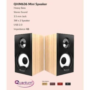 QUANTUM QHM636 USB MINI SPEAKER Laptop/Desktop Speaker (2.0 Channel)