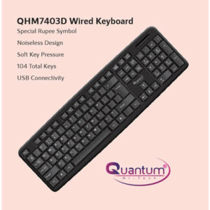 QUANTUM QHM7403D Wired USB Desktop Keyboard (Black)