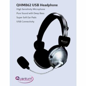Quantum QHM 862 Wired Headset (Black)