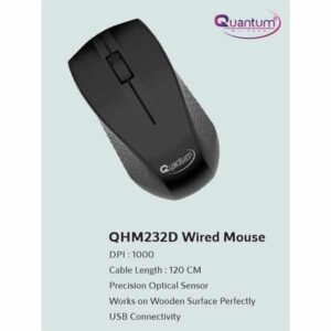 Quantum QHM232D Wired Optical Mouse (USB 2.0)