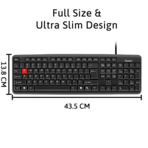 Quantum QHM7403D Wired USB Desktop Keyboard