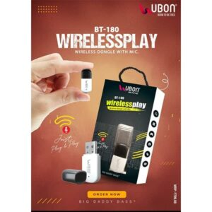 Ubon BT-180 WIRELESSPLAY Wireless Dongal with Mic