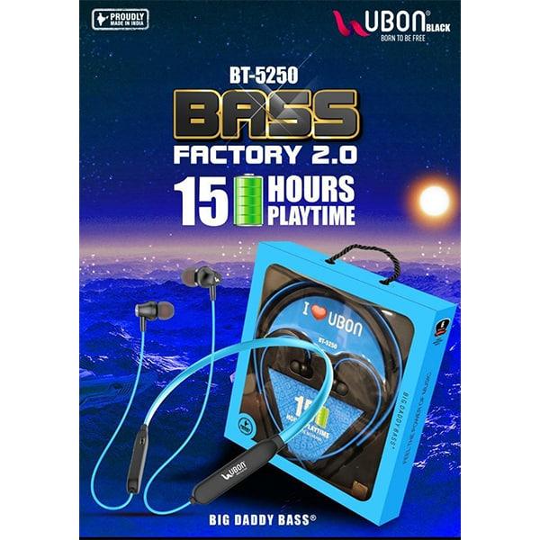 Ubon BT-5250 BASS FACTORY 2.0 Wireless Neckband