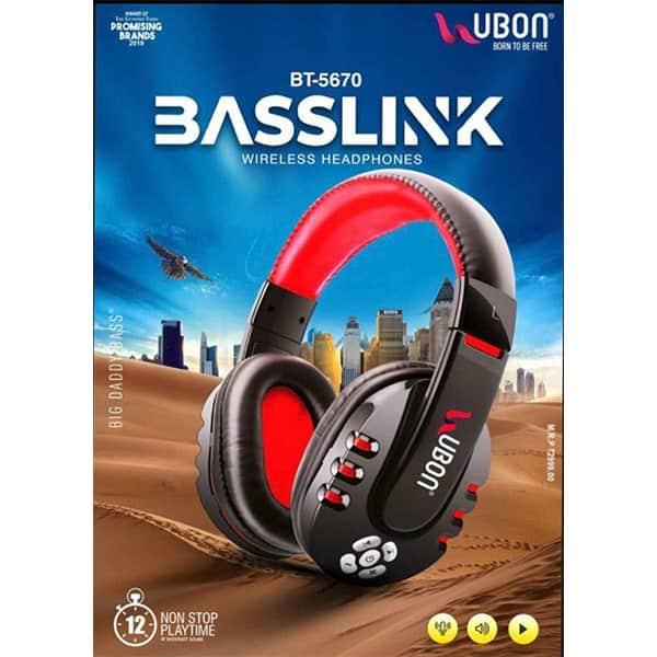 Ubon BT-5670 BASSLINK Wireless Headphone