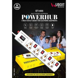 Ubon ET-405 Multi Socket Extension Powerhub