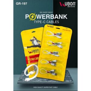 Ubon GR-197 POWERBANK TYPE-C Cable