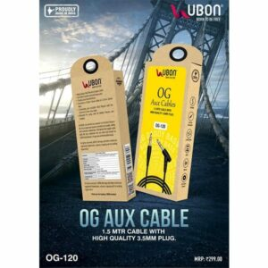 Ubon OG-120 1.5Mtr High Quality Aux Cable 3.5MM Plug
