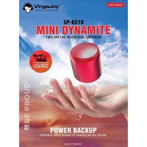 Vingajoy SP-6510 MINI DYNAMITE Metal Wireless Speaker