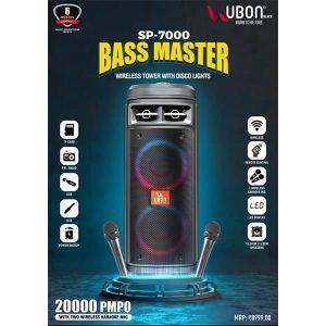 Ubon SP-7000 Bass Master Wireless Tower with Disco Lights