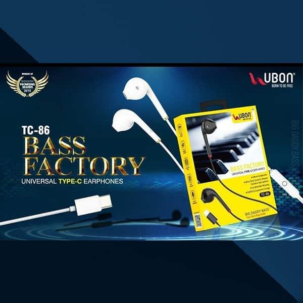 Ubon TC-86 BASS FACTORY Universal Type-C Earphones
