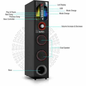 Ubon TW-4000 Big Blaster Multimedia Tower Speaker