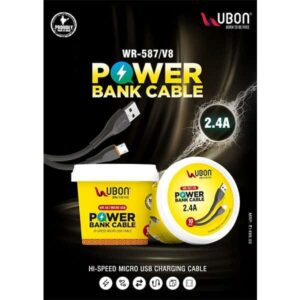 Ubon WR-587 V8 Power Bank Cable 2.4A