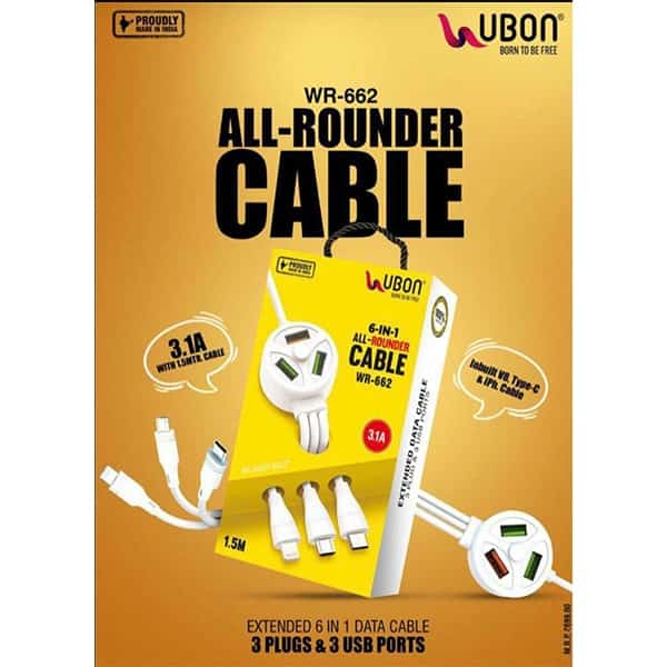 Ubon WR-662 6 IN 1 All-Rounder Cable