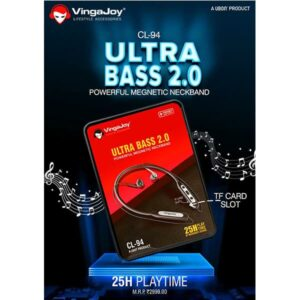 Vingajoy CL-94 ULTRA BASS 2.0 Powerful Magnetic Neckband
