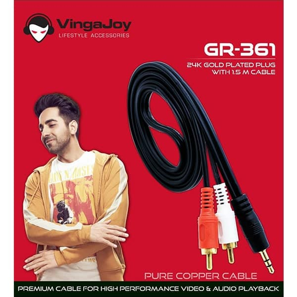 Vingajoy GR-361 Stereo to 2RC Pure Copper Cable