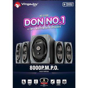 Vingajoy HT-3100 4-IN-1 Multimedia Speaker 8000 PMPO
