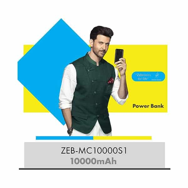 Zebronics 10000 mAh Li-Polymer Power Bank