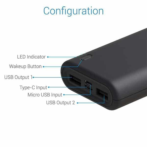 Portronics POR 1017 Indo 20X 20000 mAh Portable Power Bank