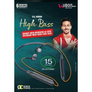 Ubon CL-5550 High Bass Neckband With Quick Charge