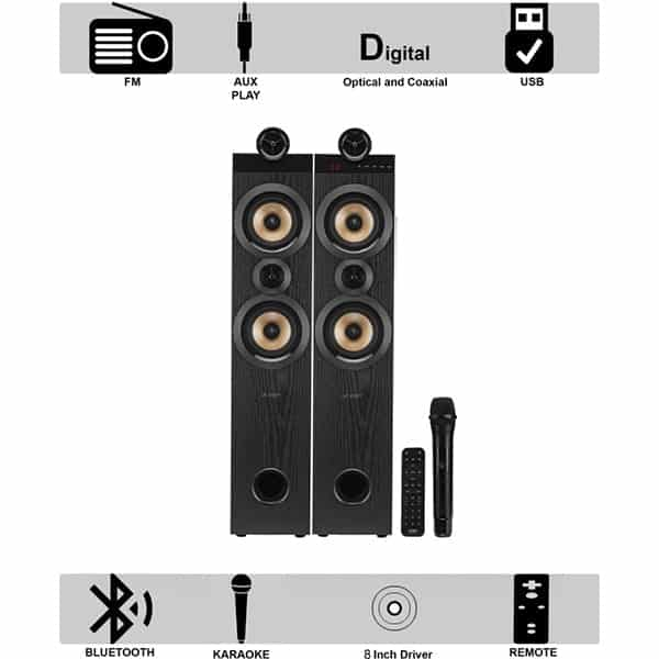 F&D T70X Tower Speaker 160W Bluetooth Tower Speaker