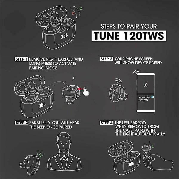 JBL T120TWS True Wireless Earbuds with Mic