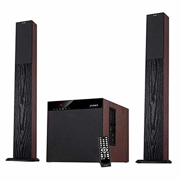 F&D T400X 100 W Full Wooden 2.1 Tower Speakers