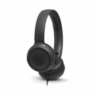 JBL Tune 500 by Harman Powerful Bass On-Ear Headphones with Mic