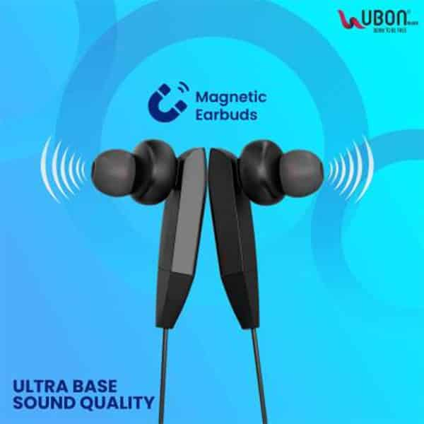 Ubon CL-5460 Wireless Neckband With Magnetic Earbuds