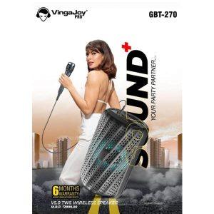 VingaJoy GBT-270 Sound+ Wireless Party Speaker